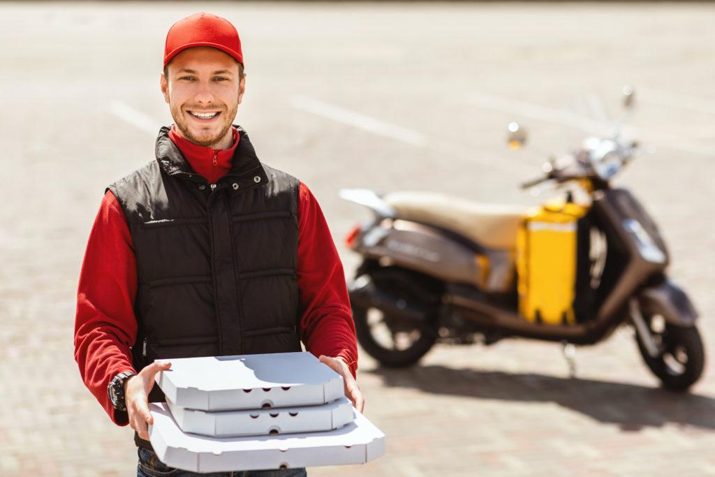 תאונת עבודה מה עושים - שליח פיצה